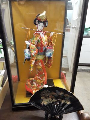 VINTAGE GEISHA DOLL WITH GLASS CASE for Sale in Frederick, MD