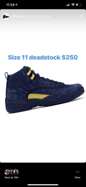 Air Jordan Michigan 12s size 11 $250 for Sale in Bethesda, MD