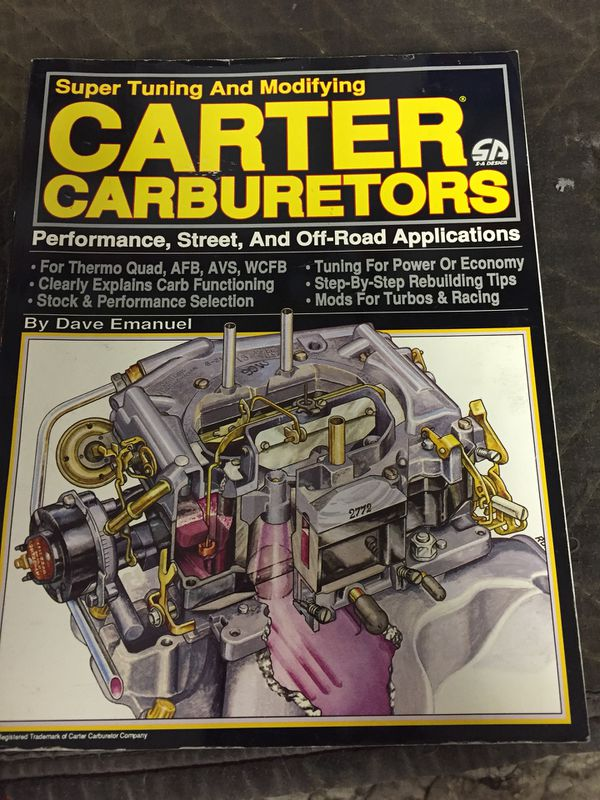 Carter Carburetor super tune manual for Sale in Yucaipa, CA - OfferUp