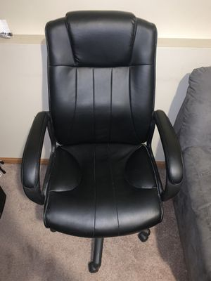 Photo Leather desk/office chair