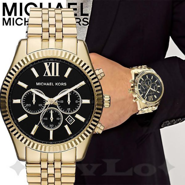 c16f46368068 BRAND NEW - Men s Chronograph Lexington Gold-Tone Stainless Steel Watch  MK8286