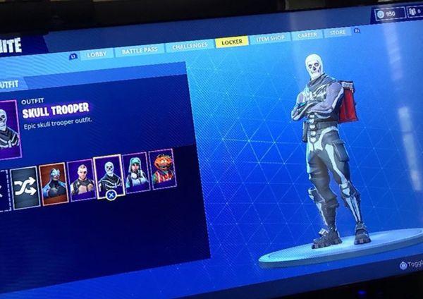 fortnite skull trooper account