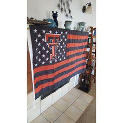Texas Tech Red Raiders USA Style Flag Banner 3x5 Feet New in Bag Thumbnail