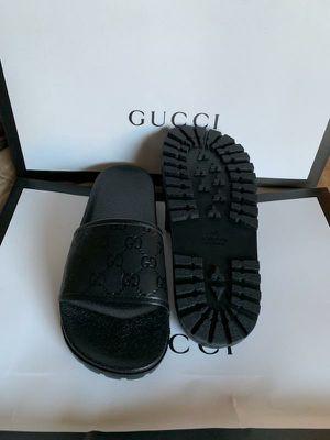 7aba04b4655 BLACK GG PRINT SLIDES !! INBOX ME for Sale in Boca Raton