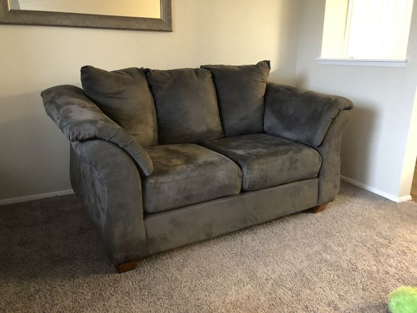 Grey microfiber couch from Mor furniture for Sale in Edmonds, WA - OfferUp