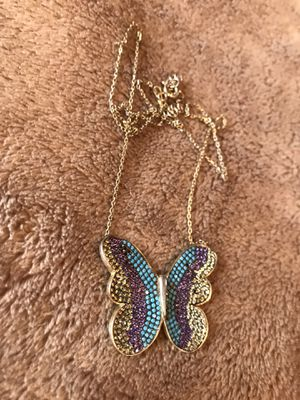 Photo Butterfly chain 925 silver gold plated 85 bucks or best offer.
