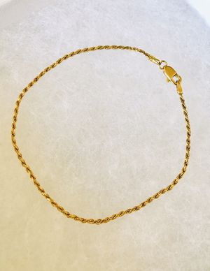 14K Solid Gold Rope Bracelet for Sale in Irvine, CA
