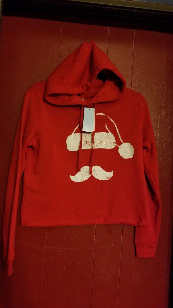Santa Claus Crop Top Hoodie