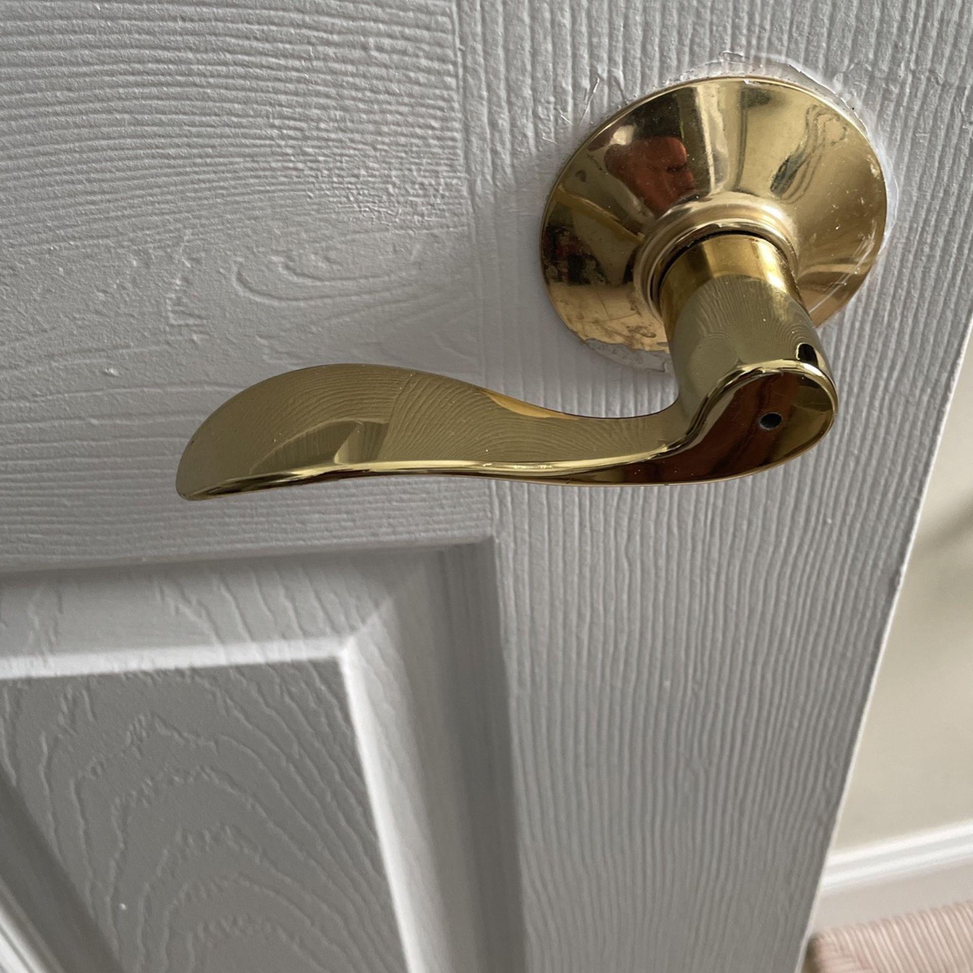 Gold Door Handle