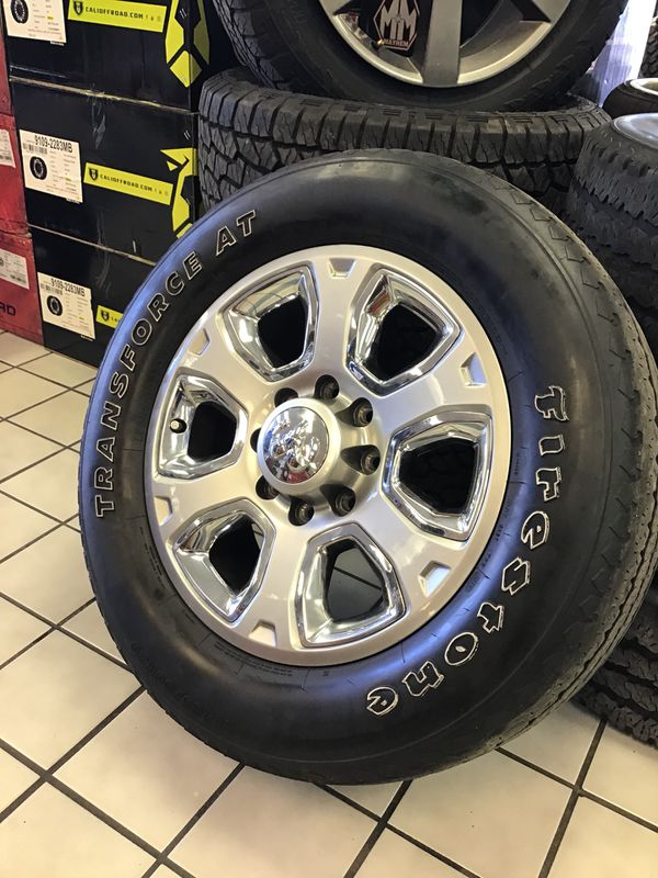 Like New Oem Dodge Ram 2500 20 Silver Chrome Rims Wheels Firestone