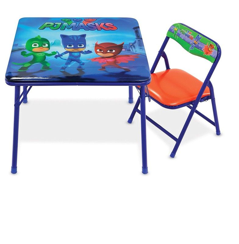 Kids table with chair for tjmasks