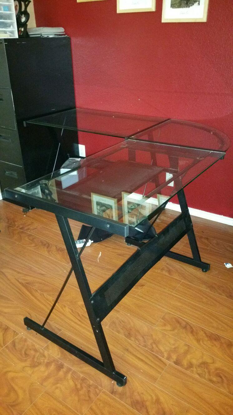 Glass contemporary desk