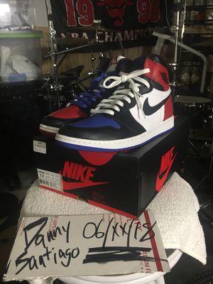 ae7ae2a8dac9 Size 13 Nike Air Jordan 1 retro Top 3 mens blue red white black shoes for