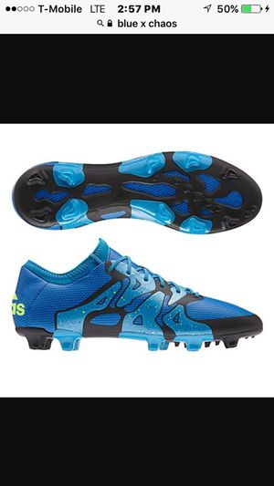 Blue x chaos soccer cleats by adidas for Sale in Los Angeles, CA