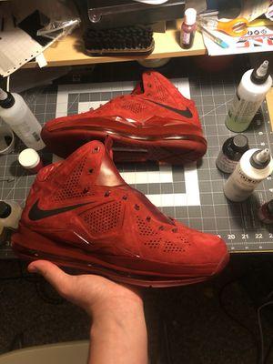 """Custom LeBron 10 """"Red Suede"""" for Sale in Manassas, VA"""