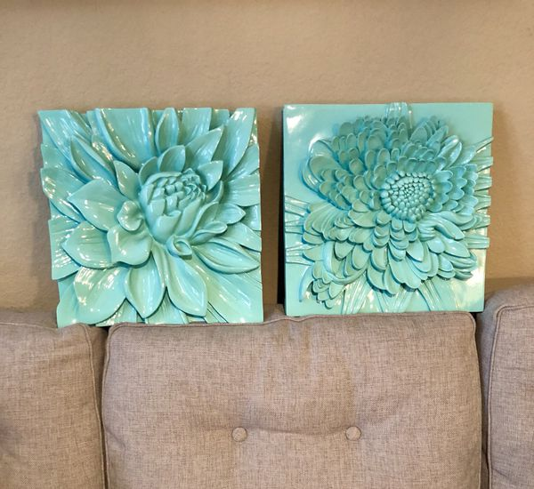 Z Gallerie Lotus Flower Plaque Set For Sale In Huntington Beach Ca