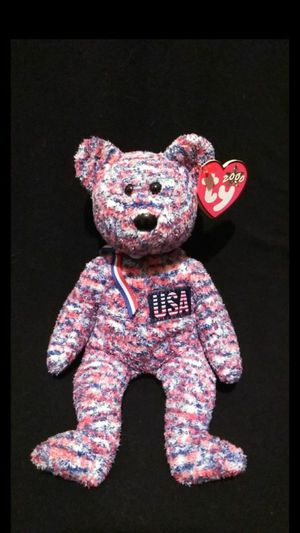 Mint Condition Retired 2000 Ty Beanie Babies USA The Patriotic Flag Bear  With Swing Tag Errors 1317010d22b8