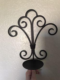 Rod iron candle mounts Thumbnail