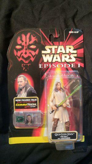 Star Wars Action Figure - Episode 1 - Qui-Hon Jinn for Sale in Salt Lake City, UT