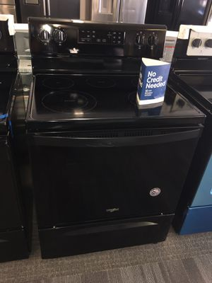 Photo Brand New black Electric Stove With Warranty Scraches Dent No Credit Needed Just $54 Down payment Cash price $500 The Price Is Firm
