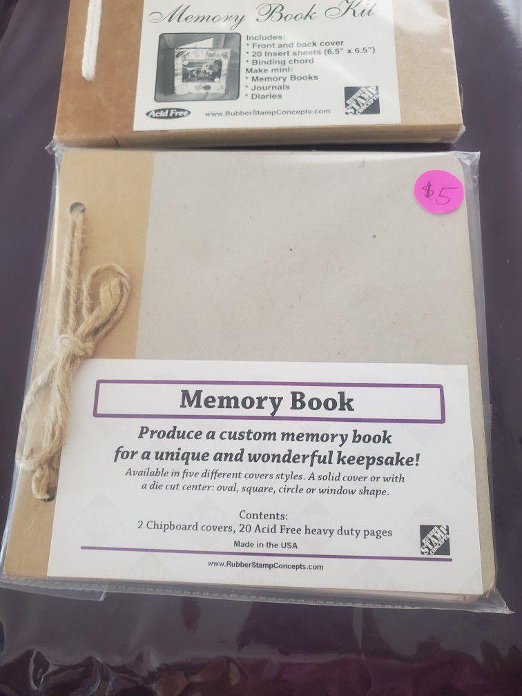 Memory Book. $5 Each
