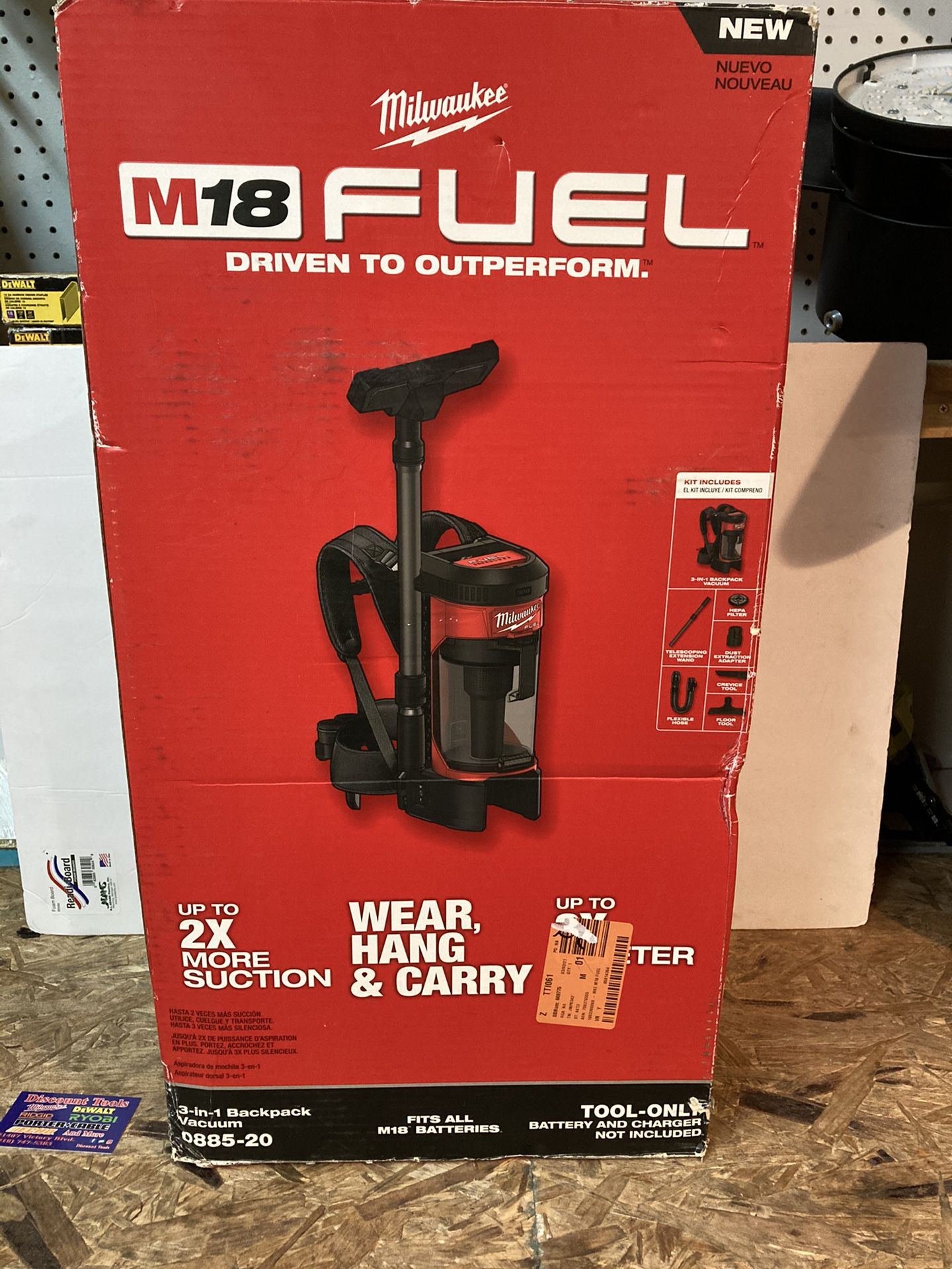 Milwaukee M18 FUEL 18-Volt Lithium-Ion Brushless 1 Gal. Cordless 3-in-1 Backpack Vacuum (Tool-Only)