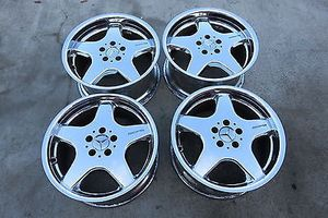 AMG Chrome 18 inch wheels 5x112 w/ tires for Sale in Alexandria, VA