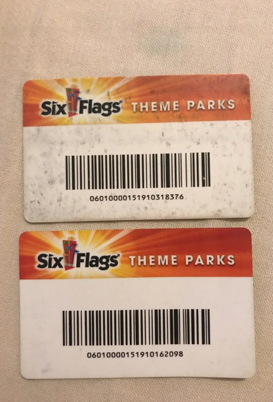 Six flags season passes// 1 for $60 or 2 for $110 for Sale in South El  Monte, CA - OfferUp