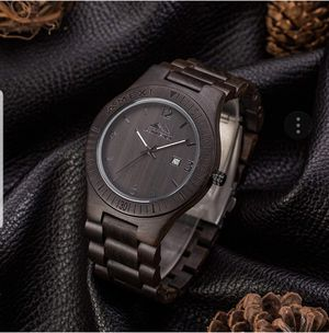 Ebony Wooden Watches Dark Wood Watch Black Sandal Wood Wrist Watches for Men and Women for Sale in West Covina, CA