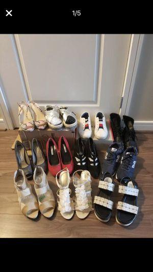 Eleven pairs of women's sneakers and heels for Sale in Arlington, VA