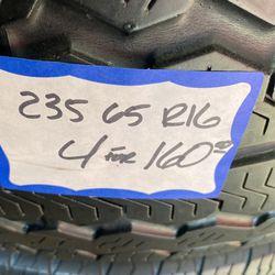 4 Used Tires 235/65/R16 Thumbnail