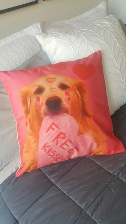 New! Dog Deco Pillow Couch Bed Chair Perfect Gift Necklace Jewerly Thumbnail
