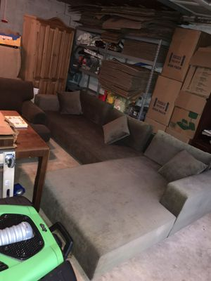Sectional Couch 2 Piece L Shape Firm Cushions for Sale in Colesville, MD