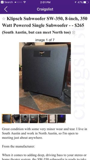 Sub for Sale in Austin, TX