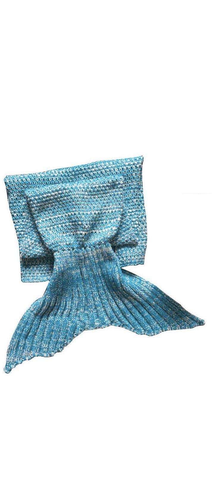 Brand new Mermaid Tail Blanket for Adult, Light Blue