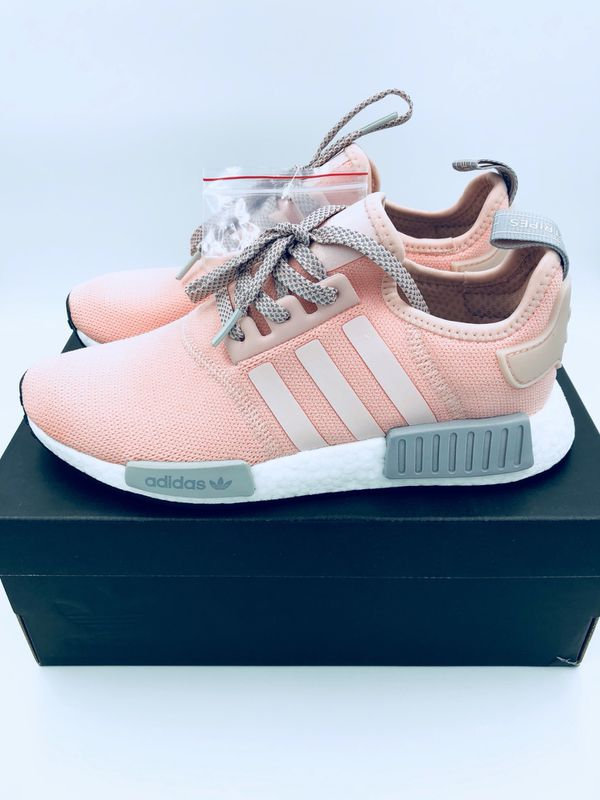 a00cc8ed7 New Adidas NMD R1 Women s Size 7.5 DS Sneakers Vapor Pink Light Onix Grey  Offspring