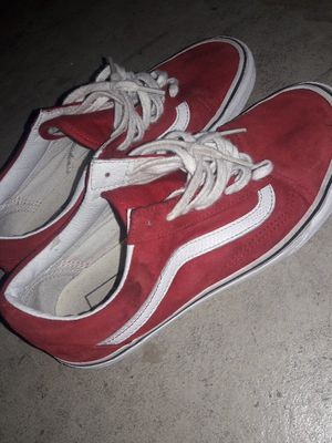 110fa277e68076 Red vans size 6.5 for Sale in Port St. Lucie