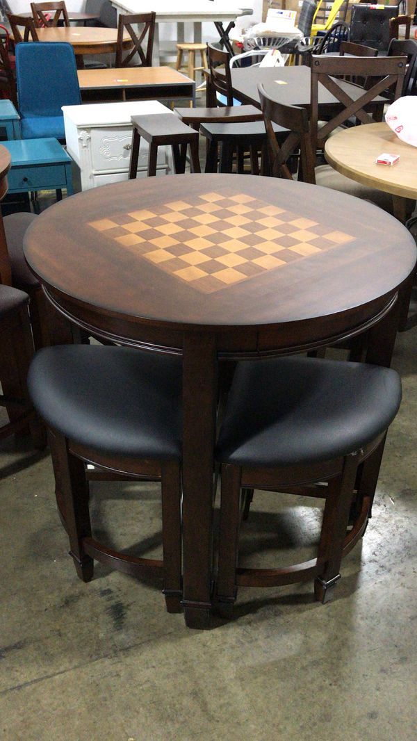 New Costco Well Universal 5pc Game Top Table Dining Set For Sale In Hilliard Oh Offerup