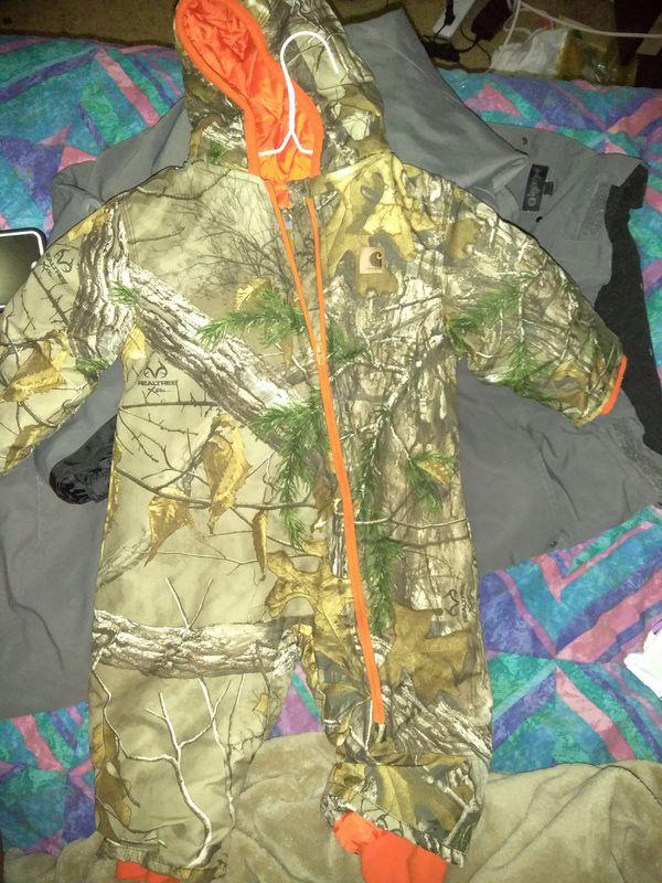 4e74d8a6d877 Carhartt Boy s Infant Toddler Camo Snowsuit - Realtree Xtra - 12M for ...