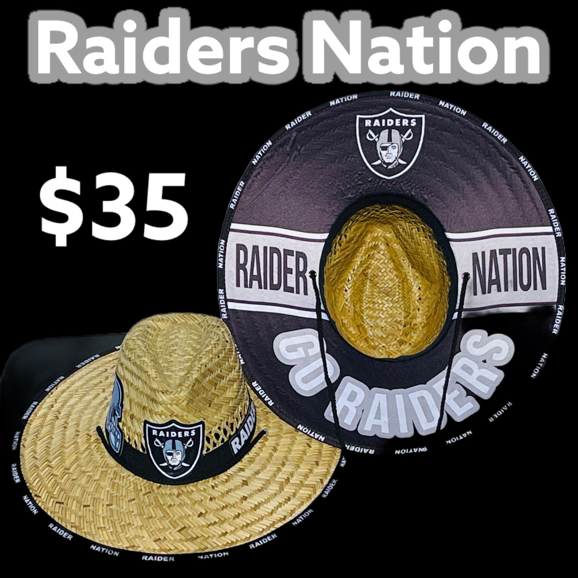 Raiders straw hat (Great Father's Day Gift 🎁) Same Day Shipping If Paid By 3pm (I Also Have Other Team's)