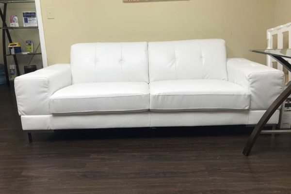Prime 2 Couches For The Price Of 1 1 White Faux Leather Sofa Cjindustries Chair Design For Home Cjindustriesco