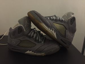 (Size12) Wolf grey Jordan 5 size 12 100% authentic for Sale in Severn, MD