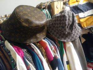 b07e8b8cd46f Vintage Gucci   Louis Vuitton Bucket Hat for Sale in Addison
