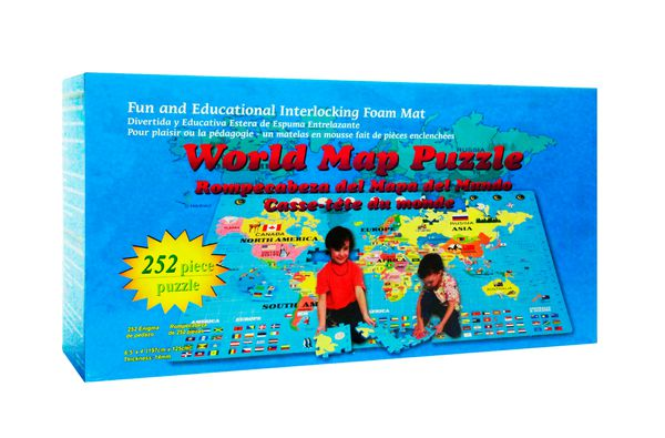 Giant World Map Interlocking Foam Puzzle Floor Set 252 ...
