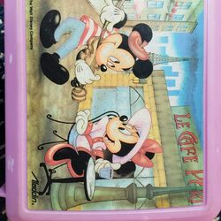 Disney Mickey and Minnie Mouse Lunch Box with thermos Vintage Aladdin $15.00 Thumbnail