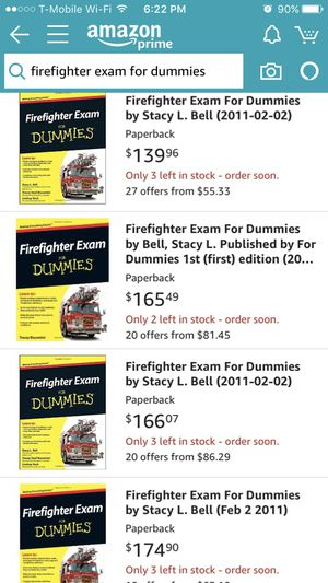 Fire fighter exam for Dummies book for Sale in Rancho Cucamonga, CA -  OfferUp