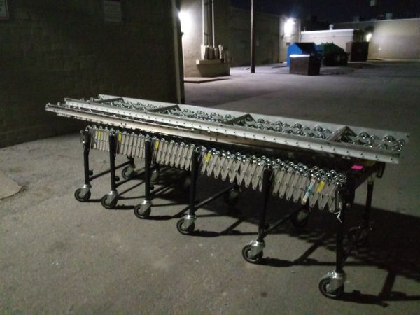 Uline industrial mobile flexible conveyor system on wheels for Sale in San  Antonio, TX - OfferUp