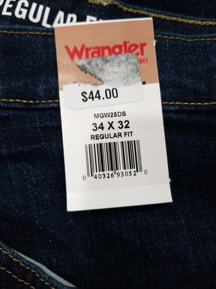 *NEW* Wrangler Mens Jeans Regular Fit 34x32