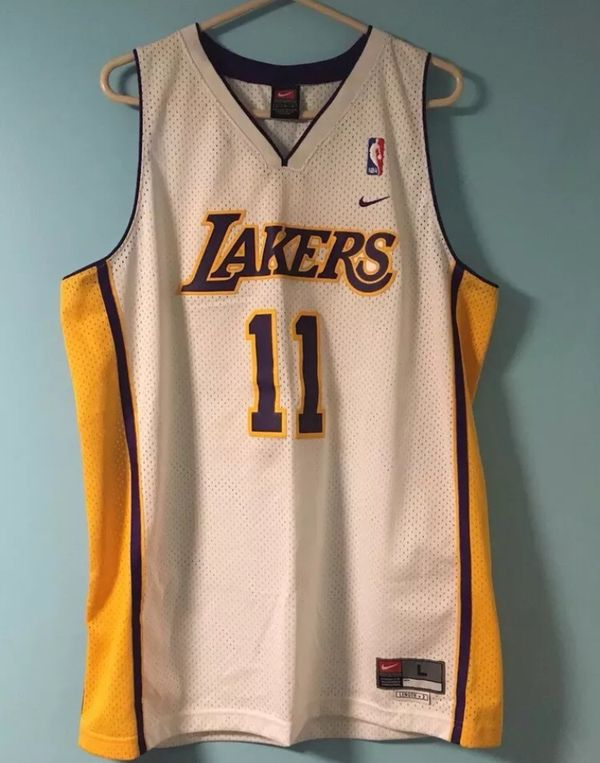 3f4d090c6 Vintage Nike NBA Karl Malone Los Angeles Lakers Jersey for Sale in ...