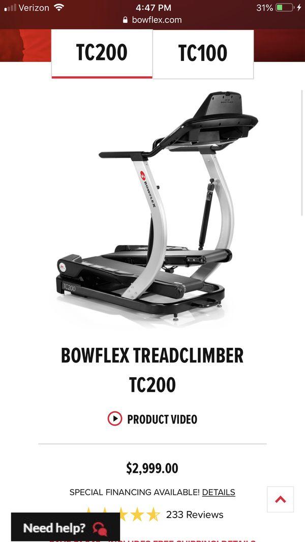 Bowflex treadclimber tc 2000 for Sale in Detroit, MI - OfferUp